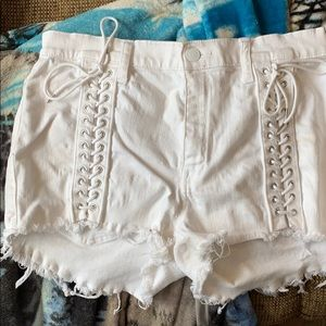 Express white shorts!